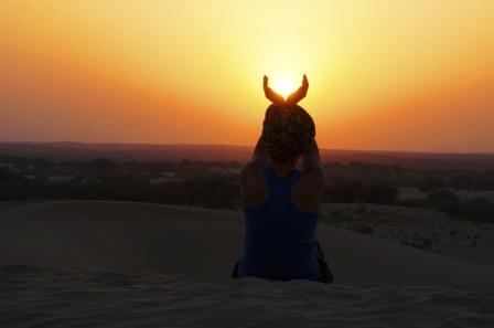 sara holding sun