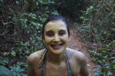 Sara after mud scrub
